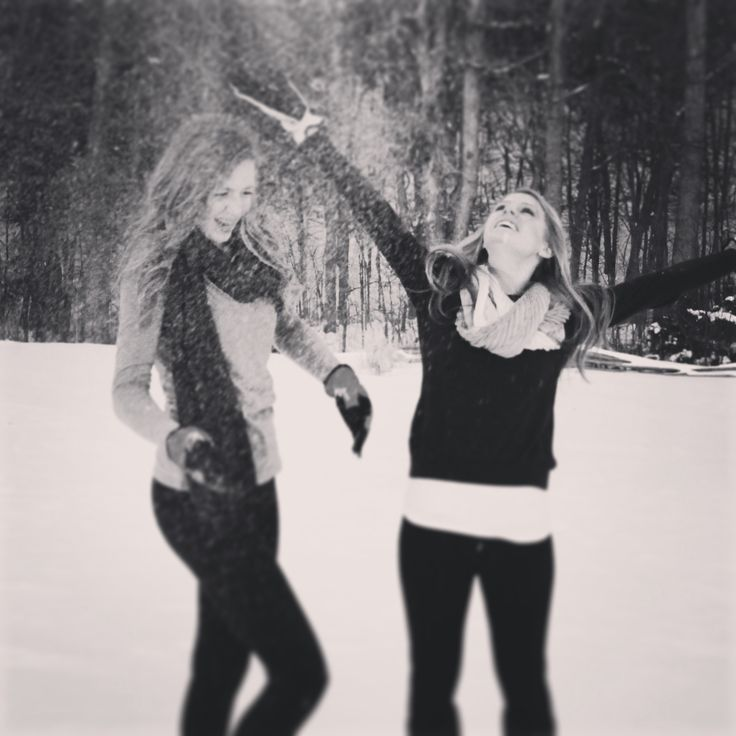 Knowing me and my bestfriend, we'd turn this into a snow ball fight....