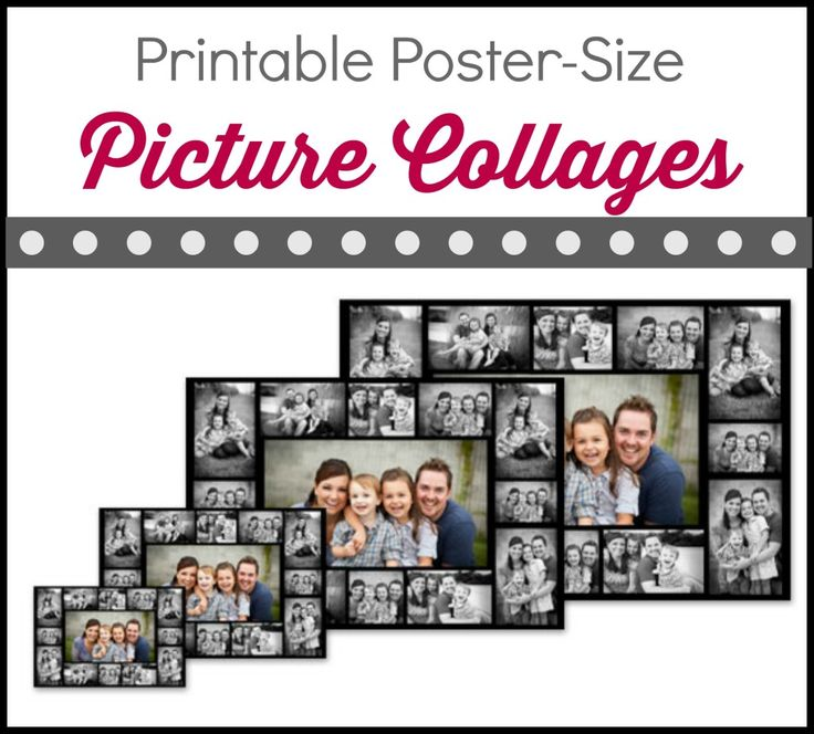 Need a quick way to make poster sized collages or other wall art with pictures? PosterMyWall allows you to make printable picture collages online.