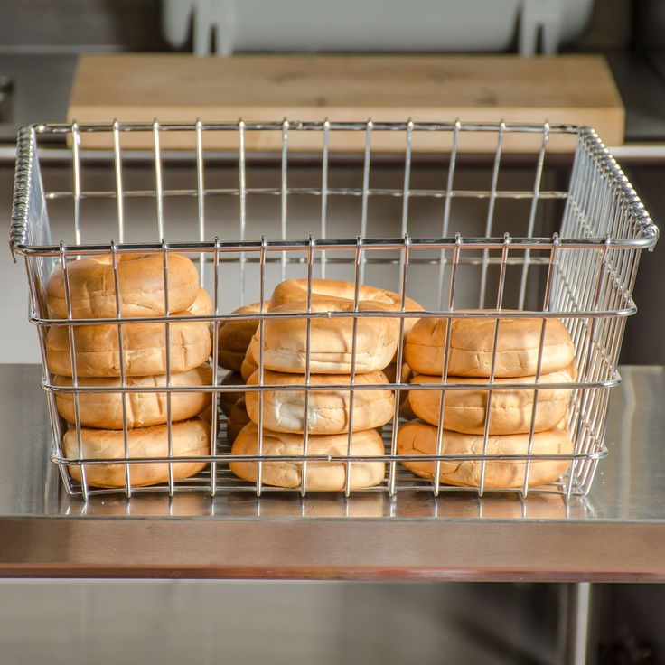 "Choice Level Top Wire Bagel Basket - 18"" x 24"""
