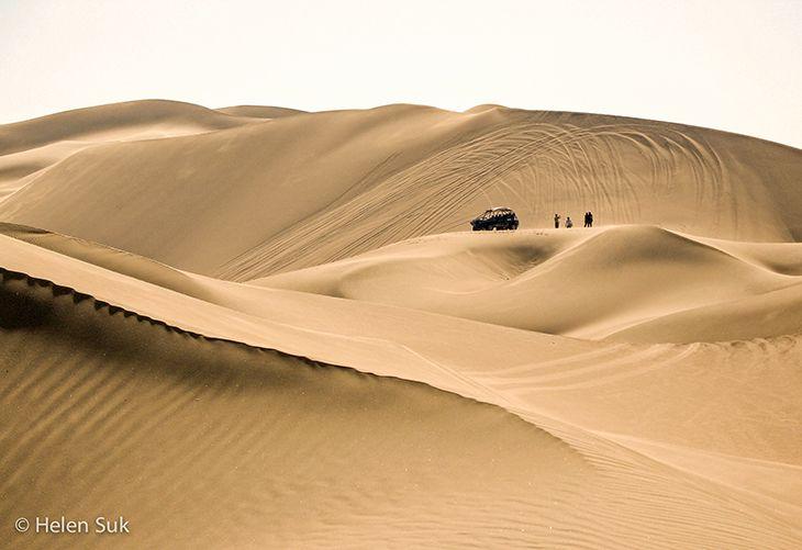 sand dunes in huacachina desert in peru