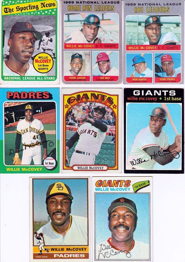 20 + different WILLIE McCOVEY cards lot vintage 1969 - 2010 Giants Padres HOF #sfgiants #SanFranciscoGiants