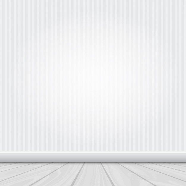Room interior with white wall and wooden floor Free Vector