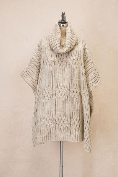 The Intertwined Turtleneck Poncho is designed to keep the body very cozy and very warm when the temperatures drop, while at the same time, look fashionable and