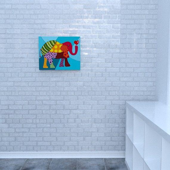 Prints on canvas elephant by Decoludik on Etsy