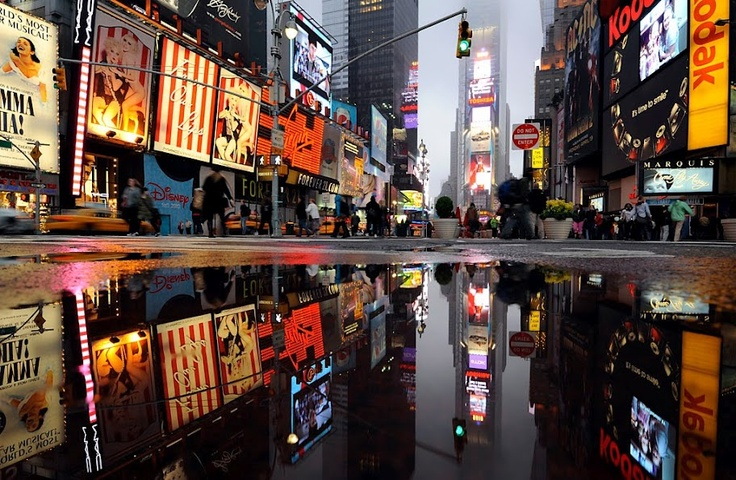 The most popular area in New York City: Times Square!