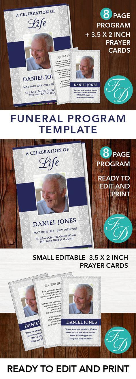 222 best Funeral Programs for Men Obituary Templates \ Prayer - 35 printable obituary