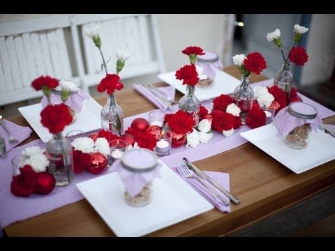 Decoration de table de mariage rouge et blanc 2014 - 2015 #Decoration ...