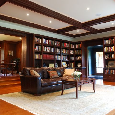 Library | Residence in Great Falls, Virginia | Ballard Mensua Architecture