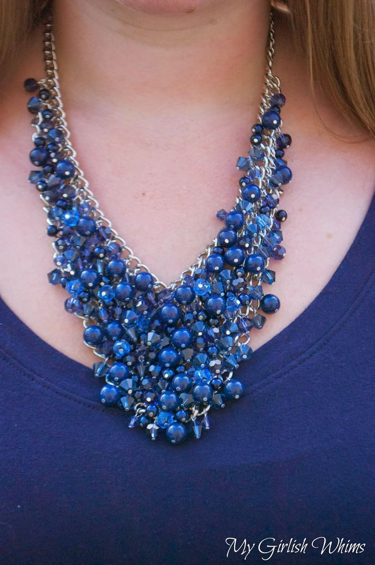 DIY Bead Cluster Web Necklace | My Girlish Whims
