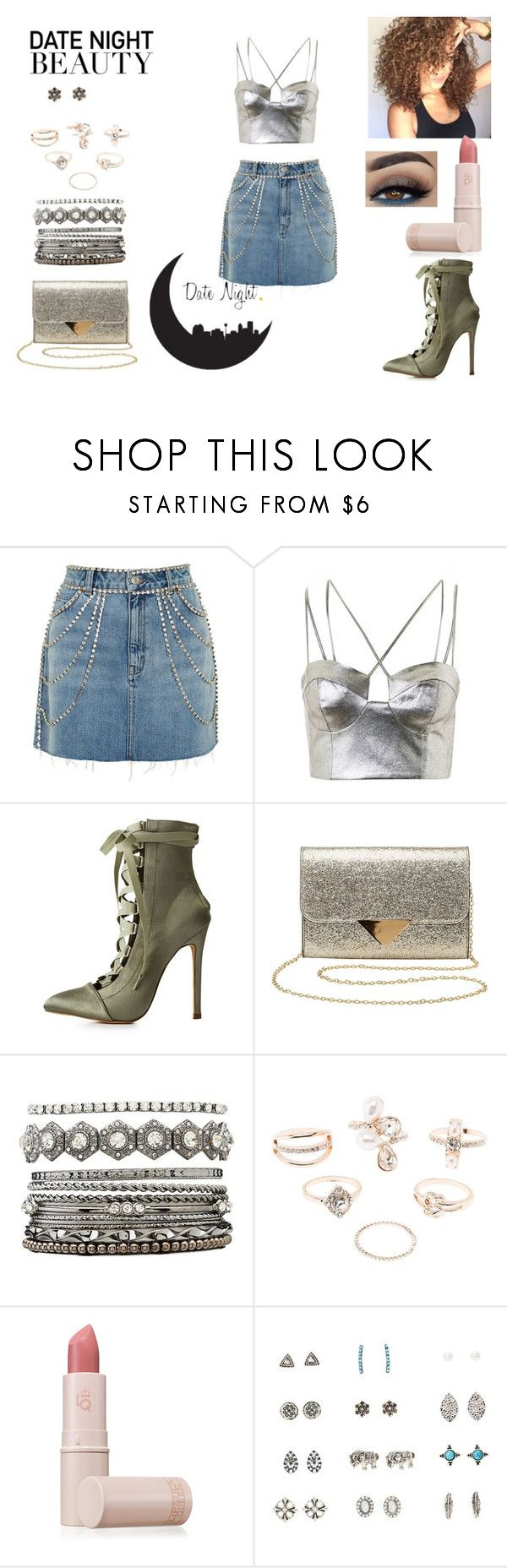 """Date Night with only Topshop & Charlotte Rousse Products"" by kayarchetypal ❤ liked on Polyvore featuring Topshop, Charlotte Russe, Lipstick Queen, DateNight, Silver, topshop and charlotterousse"