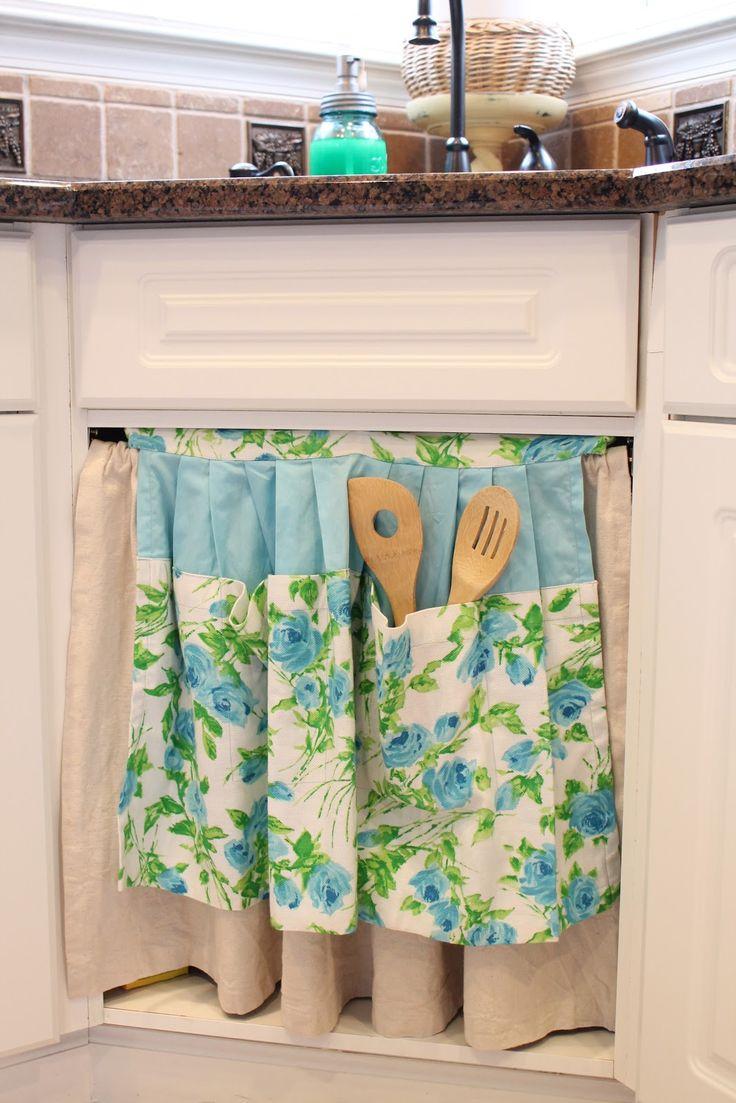 My Domestic Bliss: DIY Sink Skirt