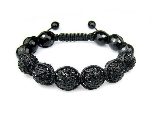 "12mm Iced Out All Black Crystal Ball and Black Agate Bracelet + Gift Box Miami Jewels. $34.95. 100% Satisfacition Guaranteed or Your Money Back!. 12MM All Black Crystal Ball.. Made with Solid Brass, NOT Weightless Resin. Bracelet Weighs 70 Grams or 2.4 Oz.. Very Well Crafted Using Waxed Cord for Extra Shine and Durability.. 7.5"" to 10"" Adjustable Bracelet.. Save 80% Off!"