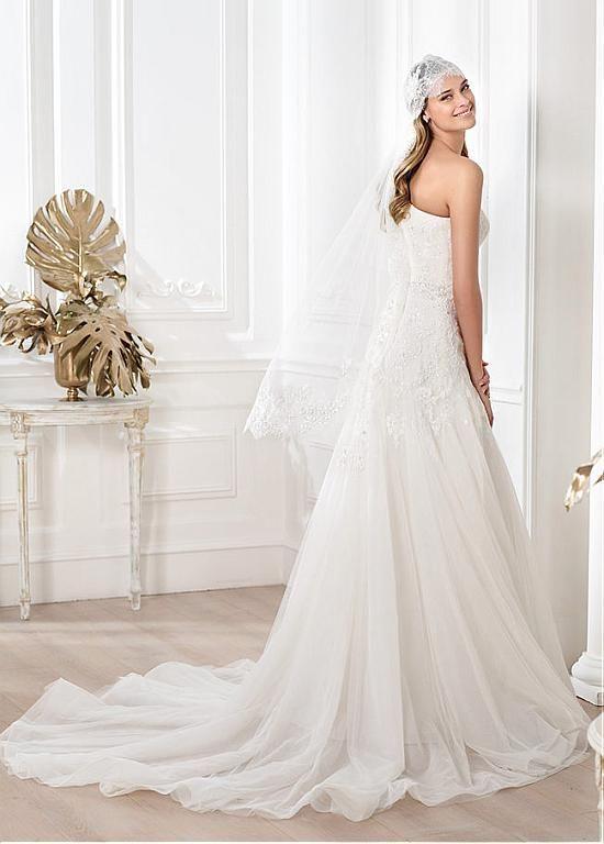 Fabulous Tulle One Shoulder Neckline Natural Waistline A-line Wedding Dress