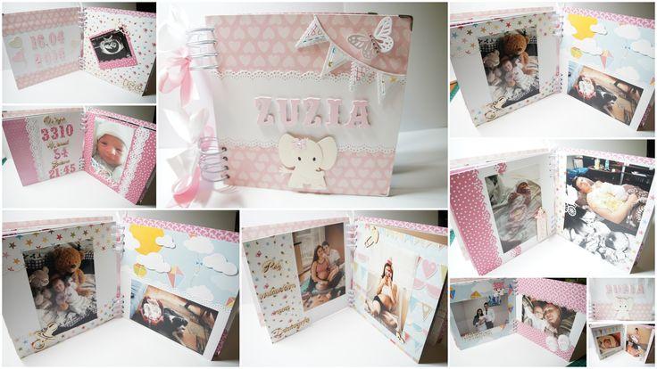Album narodzinowy dla mojej córeczki Zuzi