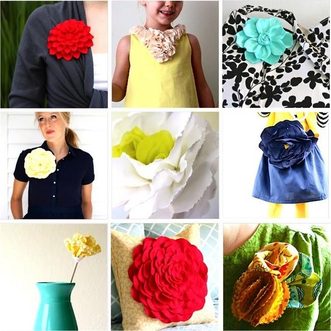 12 fabric flower tutorialsTutorials Roundup, Crafts Ideas, 12 Fabrics, Fabric Flowers, Fabrics Flower Tutorials, Handmade Flower, Felt Flower, Diy Flower, Fabric Flower Tutorial