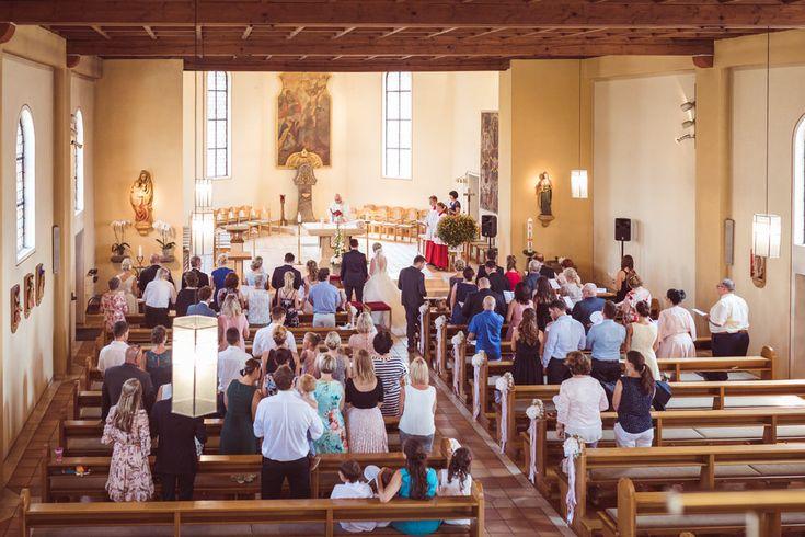 Kirchliche Hochzeit in Karlsbad und Hochzeitsfeier auf Schloss Eberstein in Gernsbach
