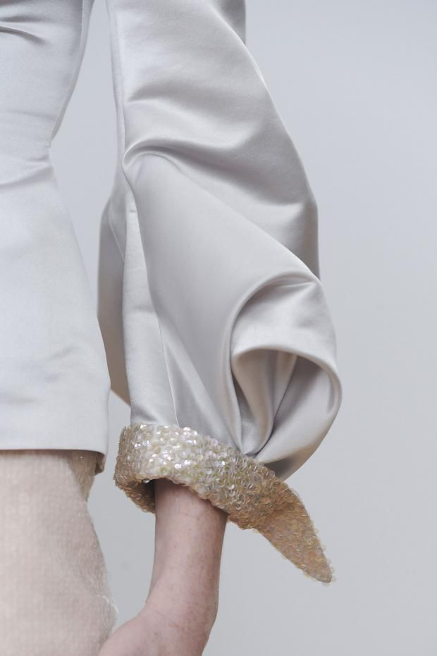 Beautifully structured sleeve with sequinned cuff - fashion details // Julien Fournie Haute Couture