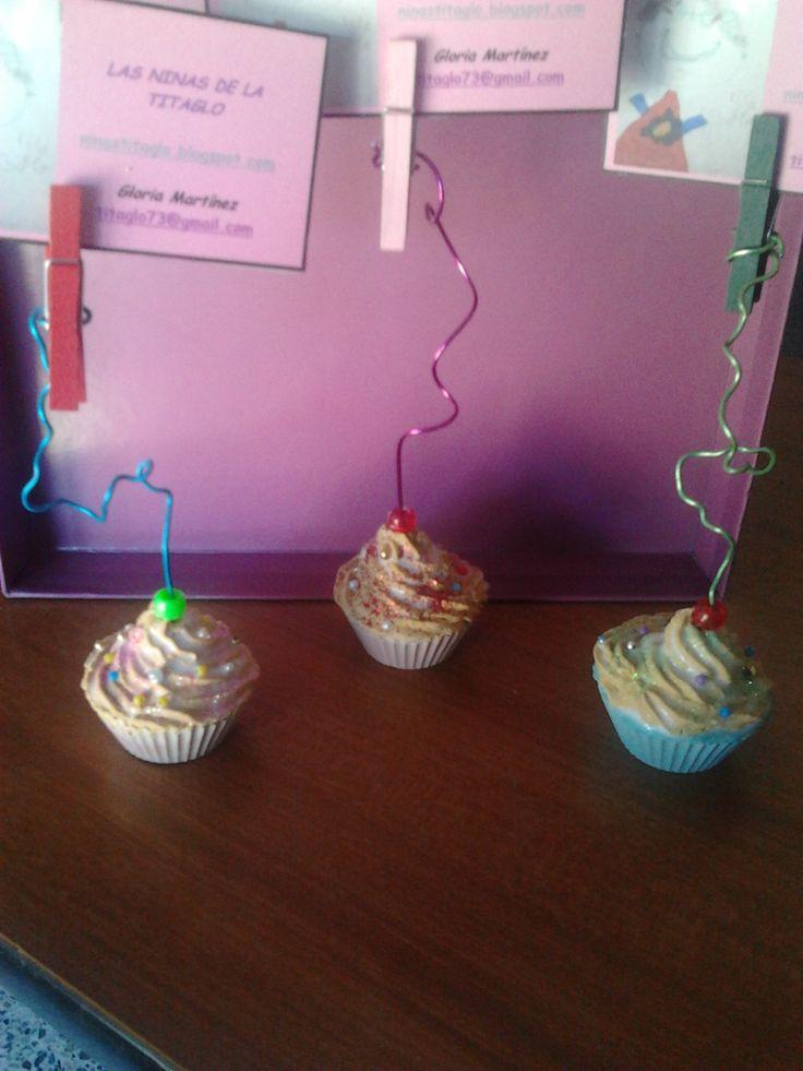 Toma-notas con forma de cupcake