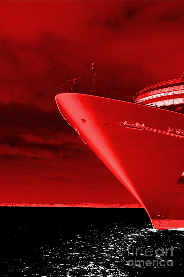 Red Sky At Morning ... Sailors Take Warning Photograph  - Red Sky At Morning ... Sailors Take Warning Fine Art Print