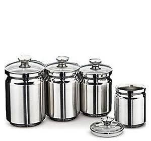 Tramontina 4-Piece Stainless Steel Canister Set