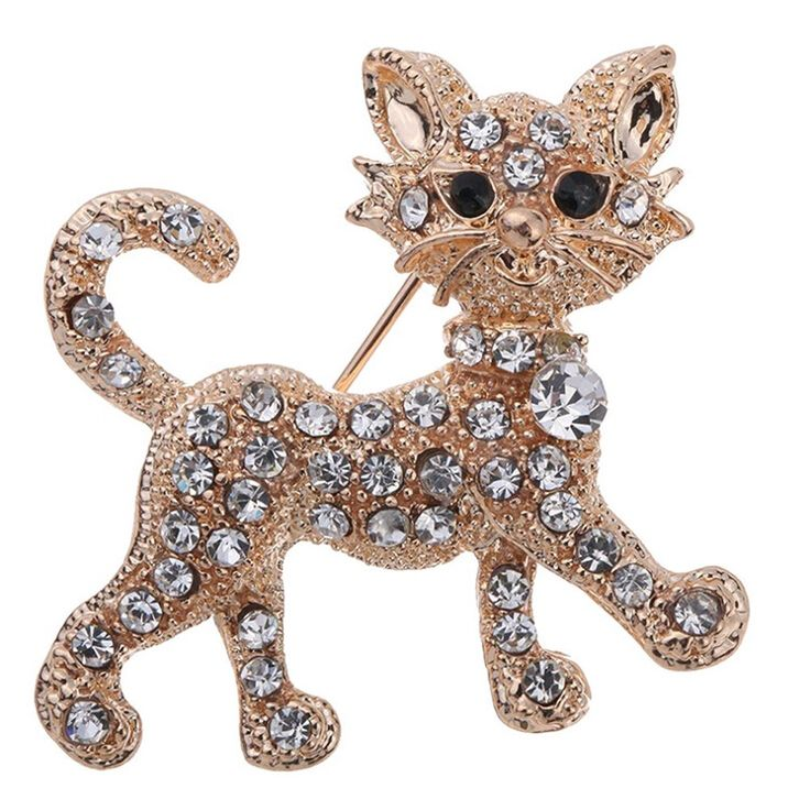 2016 New Shining gold luxury full Rhinestone Tiger vintage wedding gift brooch fine jewelry and fashion brooches for women