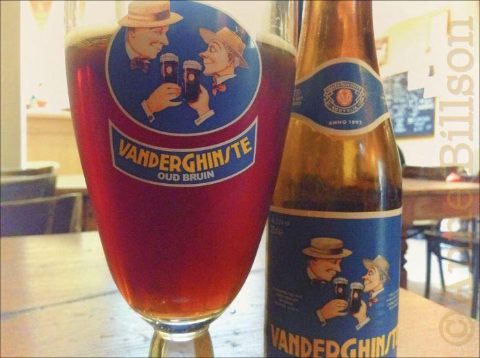 Vanderghinste oud bruin (5.5%) - a Belgian beer with rather a nice retro label.