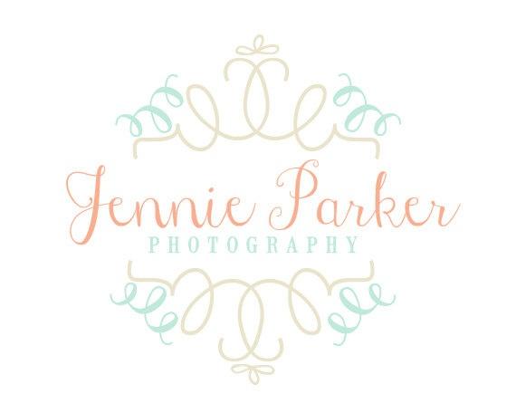 Girly Photography Logo   custom photography by RedMeadowDesignCo