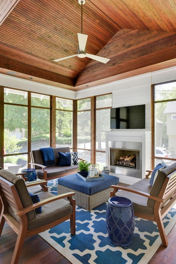 Casual, Sophisticated Enclosed Outdoor Living Room with ... on Relaxed Outdoor Living id=64620