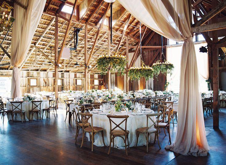 #barn, #draping  Photography: Jose Villa - josevillablog.com Floral Design: Flowerwild - flowerwild.com  Read More: http://www.stylemepretty.com/2014/02/06/elegant-carmel-wedding-with-photography-by-jose-villa/