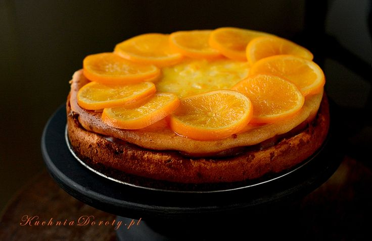 Sernik z mascarpone i pomarańczami