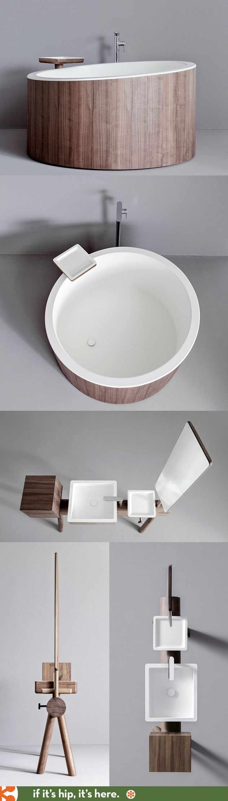 The DRESSAGE tub and Vanity by GRAFF are almost too pretty for the bathroom.