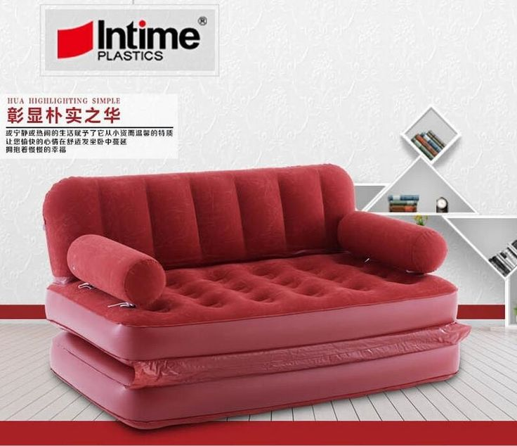 123.30$  Buy here - http://alil83.shopchina.info/1/go.php?t=32807792155 - 5 in 1 inflatable sofa bed flocking inflate sofa bed double bed folding sofa double inflated lounge chair,red large relax lounge  #magazineonlinebeautiful