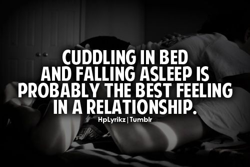 So true! We have done this since day one! And every night I love falling asleep in his arms. ❤