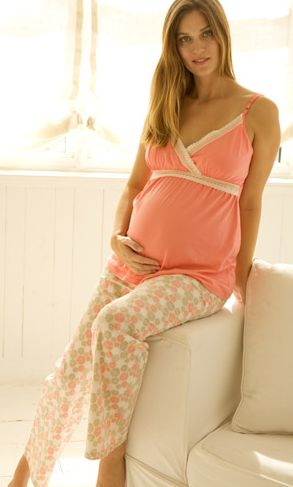 Maternity Fashion - Sleepwear - Delia Nursing Cami and Pant from Belabumbum