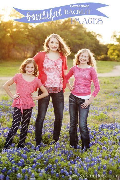 How to Shoot Beautiful Back-lit Images - photography tip Capturing Joy with KristenDuke.com