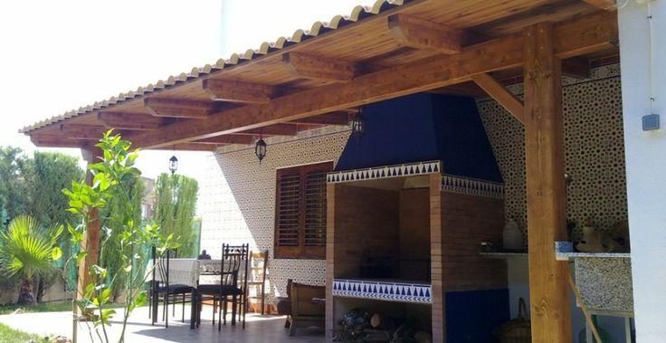 Pérgolas a 1 agua - Incofusta fabrica de madera en Valencia
