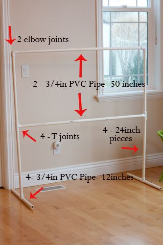 "I saw this and got the idea of possibly making a hanging laundry rack from this only adding a couple ""T"" joint to the top sides so your hangers don't slide off."