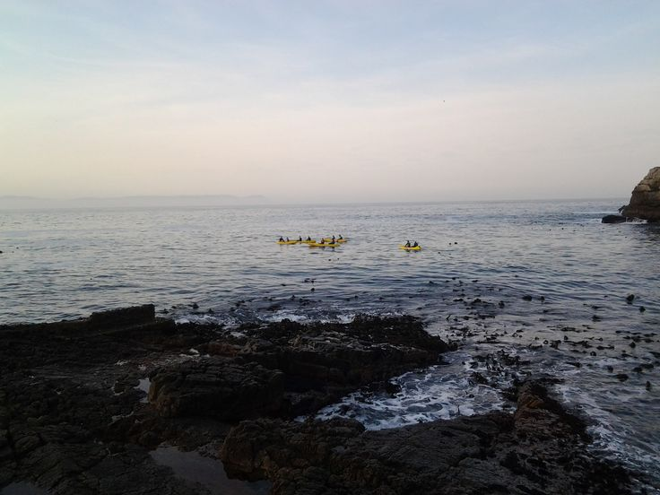A winter's day in Hermanus - out on the ocean, kayaking.