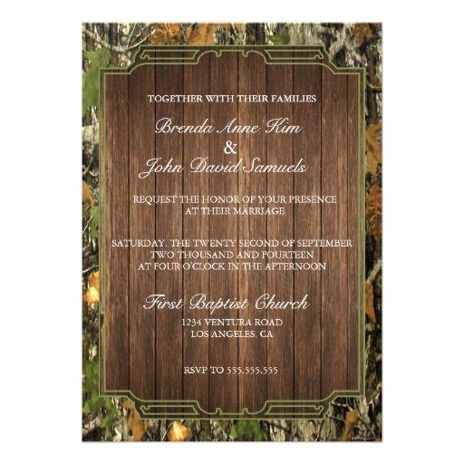 Camo Wedding Ideas Rustic Barn: 1000+ Ideas About Wood Wedding Invitations On Pinterest