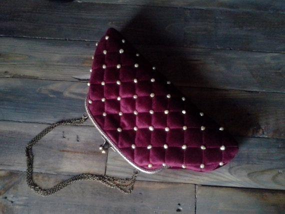 Elegant bag clutch bag women bag uncommon bag retro by Malikdesign