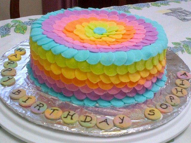 Rainbow Cake Cake Decorating Ideas Pinterest