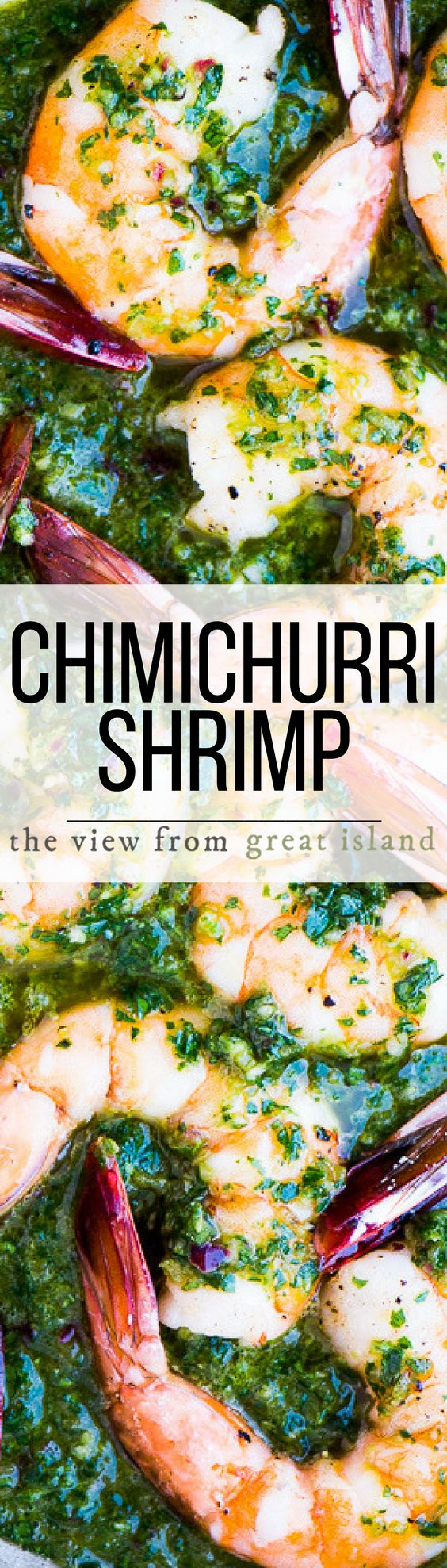 Chimichurri Shrimp ~ this can be a low carb and paleo friendly appetizer, or a comforting 30-minute meal when you pair it with pasta, couscous, or warm toasty bread. | seafood | healthy | main course | 30 minute meal |