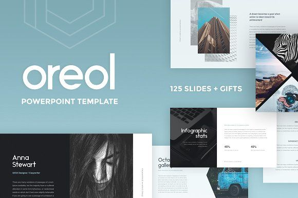 Oreol PowerPoint Template + GIFTS by Entersge on @creativemarket