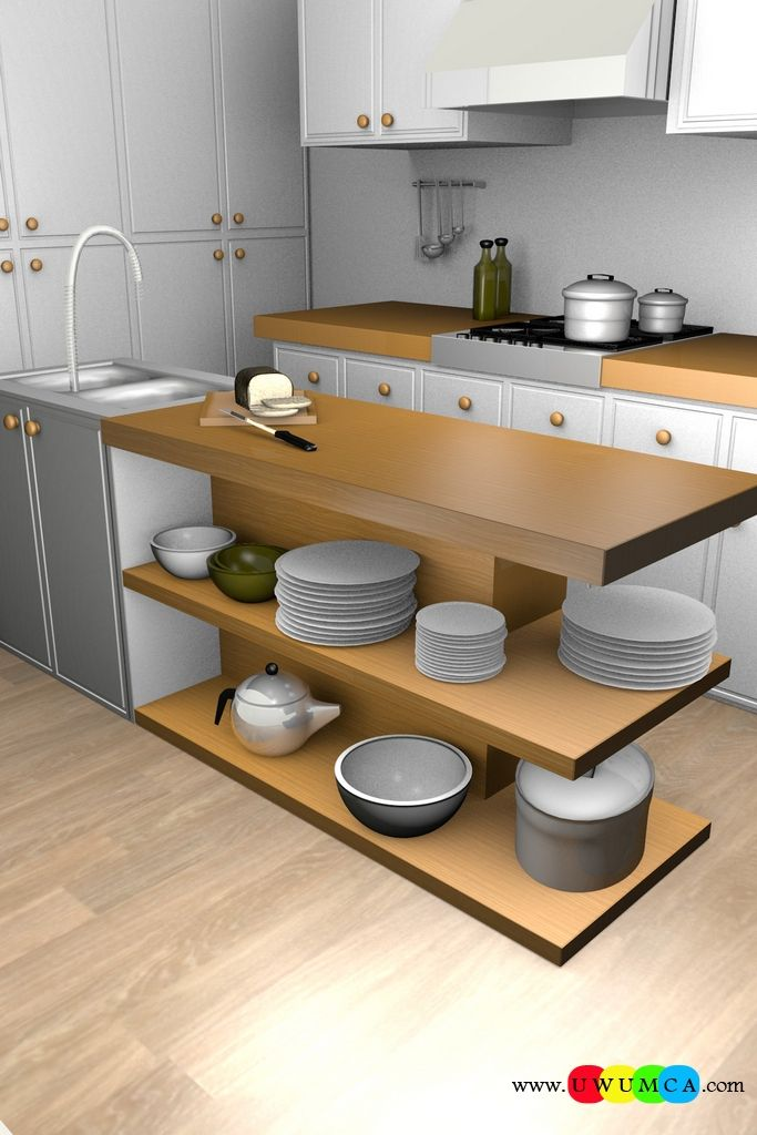 Kitchen:Corona Kitchen Ad Decor Cabinets Furniture Table And Chairs Remodel Kitchens 3d Model Free Download Countertops Layout Worktops Island Design Ideas 3ds Kitchenette Sketchup Kitchen Render 3 Colour (1) You Won't Believe How Cool Corona Kitchen's 3D Ad Looks and Other Kitchen 3D Model