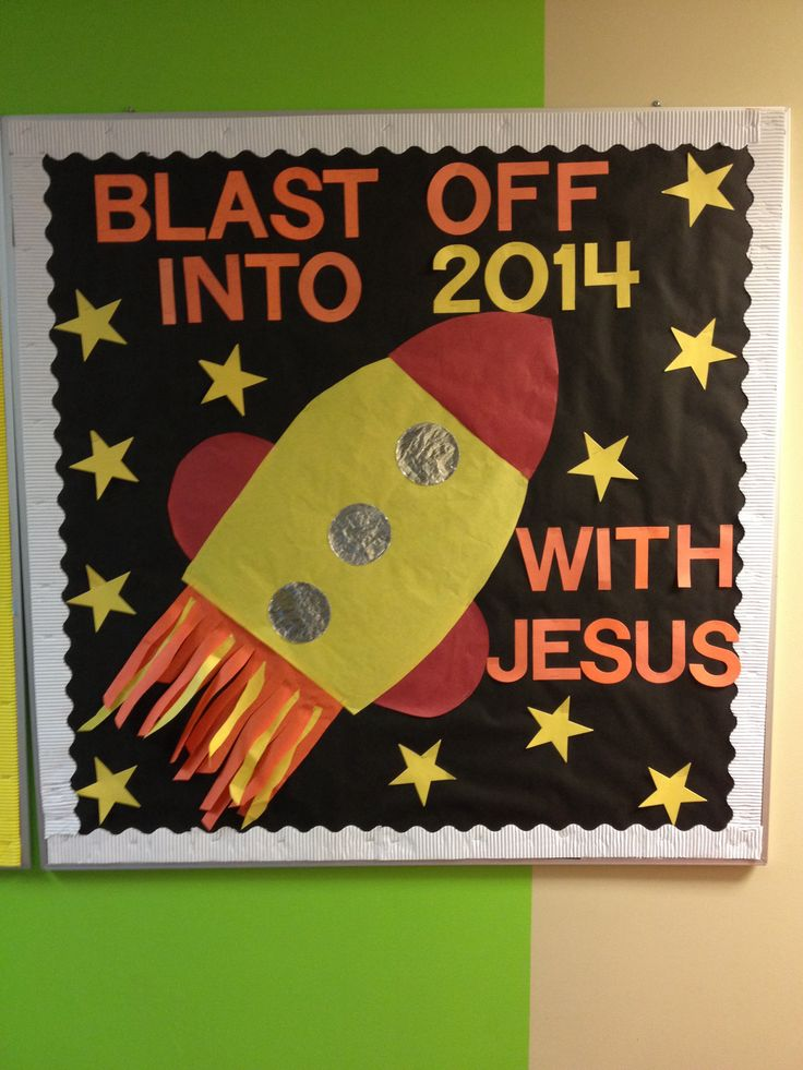 Blast Off Bulletin Board for 2014 at Church