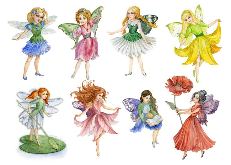 Flower Fairies by ArtGalla on DeviantArt