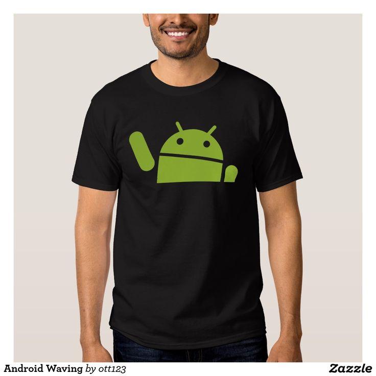 Android Waving T Shirt. Regalos, Gifts. #camiseta #tshirt