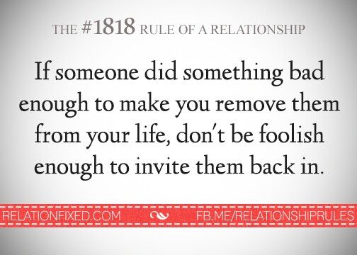 Rule of relationship