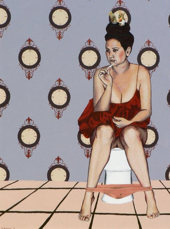 effing love this!Artists, Ap Art, Waszak Art, Toilets Painting, Art Class, Pictures, Bathroom Walls, Nicole Waszak