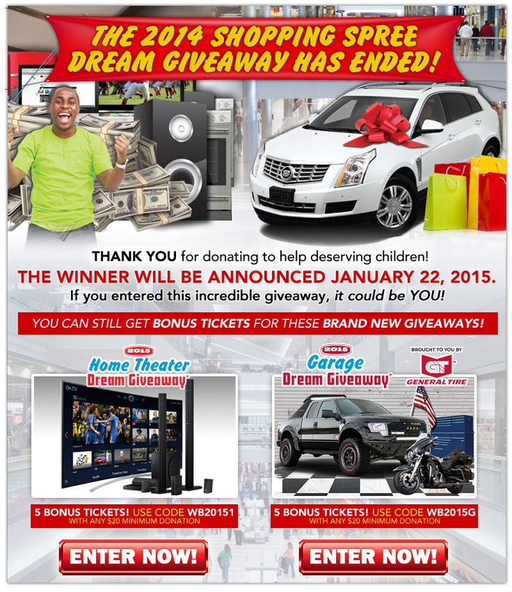 11 best promo codes coupons for 2014 dream giveaway images on winner selection is on january 22nd stay tuned to see who wins the 50000 shopping fandeluxe Image collections